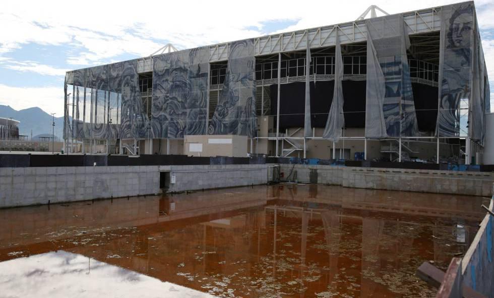 Una de las piscinas exteriores del Parque Acuático de Río.