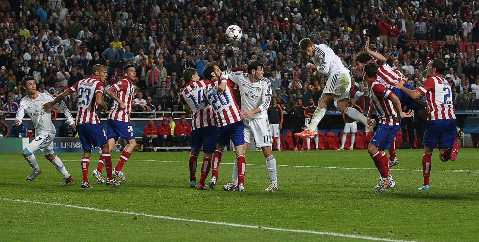 Final da Champions entre o Real Madrid e o Atlético de Madrid, em 2014.