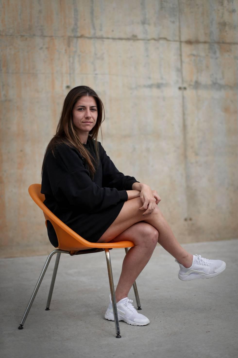 Vicky Losada, en la Ciudad Deportiva del Barcelona.