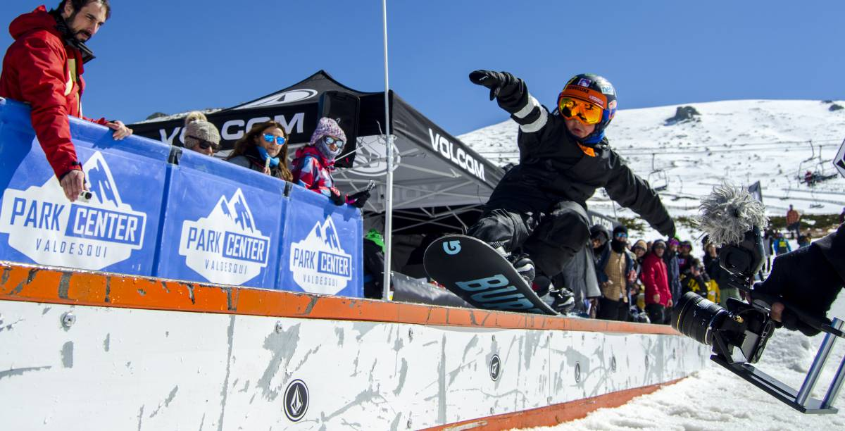 Competidor amateur del Slaugther Snow Freestyle