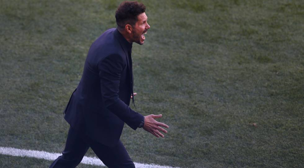 Simeone durante el último partido de Liga ante el Sevilla.