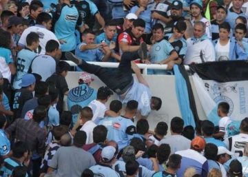 Argentina soccer fan dies after being pushed off stand at stadium