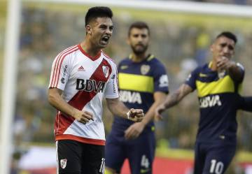 Martínez celebra su gol ante Boca Juniors