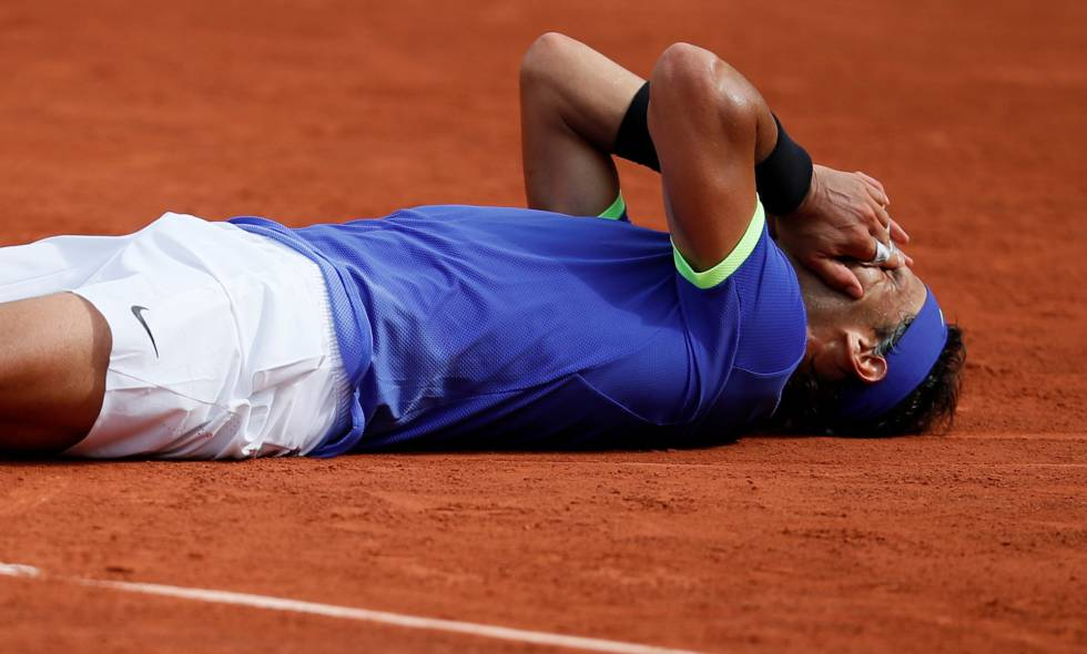 Nadal, tras ganar Roland Garros.