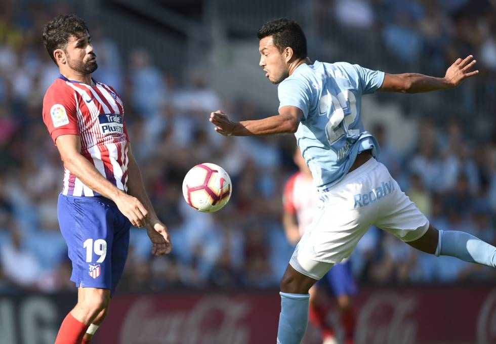 El Atlético se estrella contra el Celta