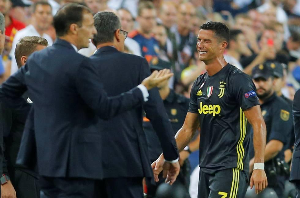 Cristiano, roja y lágrimas en Mestalla