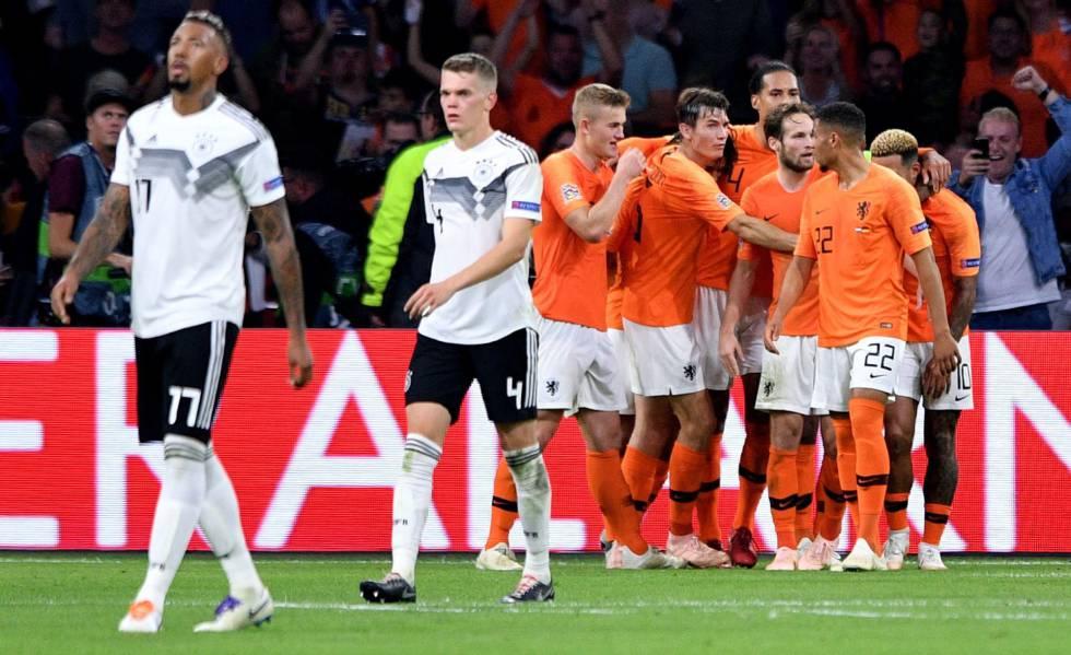 De pronto los alemanes se hicieron troncos y Holanda los goleó gacho