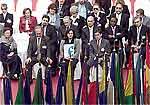 Ministros iberoamericanos de Educación reunidos ayer en Valencia.
