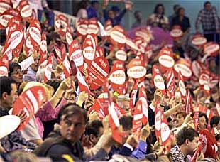 Imagen reciente de la gradería del Minorisa.net Manresa.