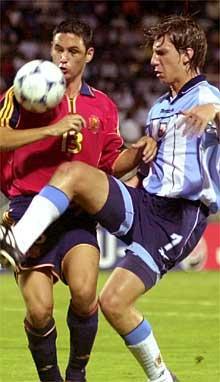 El argentino Maxi López y Melli.