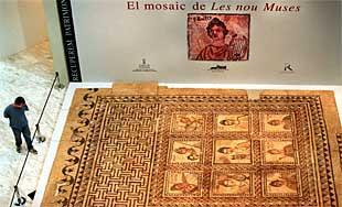 El gran mosaico de las nueve musas recobra su esplendor