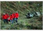 Los tres ocupantes de un avión mueren al estrellarse en un monte de Vizcaya