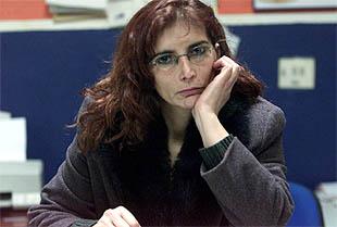 María del Carmen Cerreduela, en su centro de trabajo en Requena (Valencia).