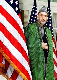 El líder afgano Hamid Karzai, el pasado lunes en la Casa Blanca.