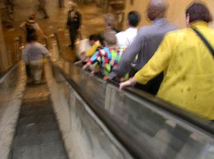 Momento de la evacuación en la primera de las Torres Gemelas atacadas el pasado 11 de septiembre.