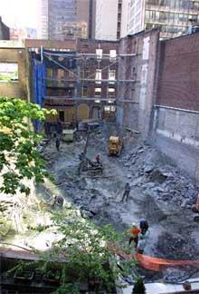 Obras para la futura sede del Cervantes en Nueva York.