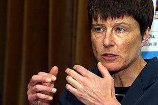 Catherine Verfaillie, directora del Instituto de Células Madre de la Universidad de Minnesota, durante la entrevista.