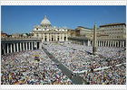 La santificación del polémico padre Pío reúne en Roma a cientos de miles de fieles