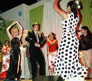 Antonio Banderas y Melanie Griffith, durante la fiesta de Los Ángeles.