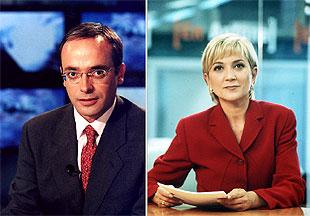 Alfredo Urdaci e Inés Ballester.