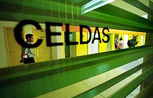 Pasillo del centro penitenciario de Villena, también llamado Alicante II, abierto el 6 de julio.