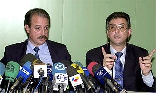 Alberto Martí Bosch (a la derecha) y Fermín Moriano, detenidos en la operación de la Guardia Civil.