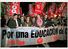 10.000 personas protestan contra la reforma educativa en Madrid