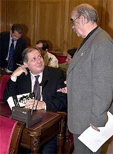 Felipe Alcaraz (IU) y José Antonio Labordeta (Chunta Aragonesista).