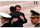 Aznar recibe al presidente de El Salvador.