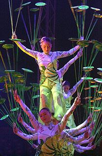 Número 'Las hojas de loto', del Gran Circo Nacional Chino.