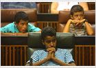 Niños saharauis, en el Parlamento andaluz