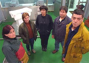 De izquierda a derecha, Maricarme Suárez, Chelo Sueiro, María Blanco, Alfredo Varela y Suso Lista.