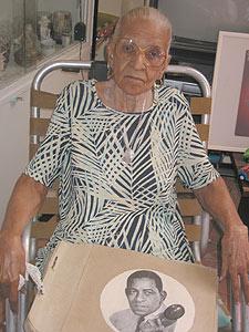 Gloria Esther Lugo Machín, en su casa de La Habana.