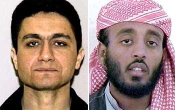 De izquierda a derecha, Mohamed Atta, el jefe de los pilotos suicidas, y Ramzi Binalshibh, coordinador del 11-S.