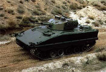 El vehículo de combate Pizarro, que fabrica la empresa General Dynamics-Santa Bárbara Sistemas.