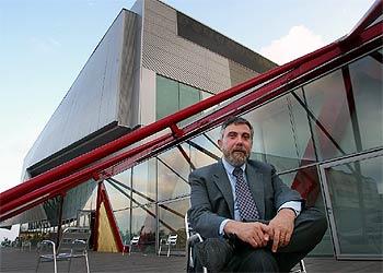 Paul Krugman, en el Centro de Convenciones del Fórum.
