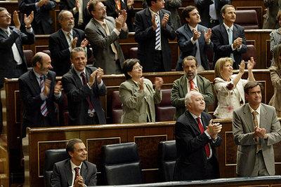 El Pleno del Congreso de los Diputados tras la votación de la ley integral contra la violencia de género.