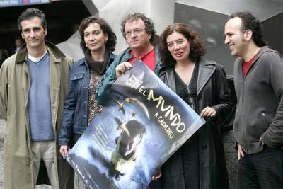 De izquierda a derecha, Javier Fesser, Patricia Ferreira, Pere Joan Ventura, Chus Gutiérrez y Javier Corcuera.