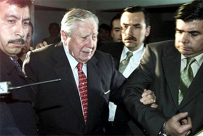 Augusto Pinochet, en 2002 en Valparaíso.