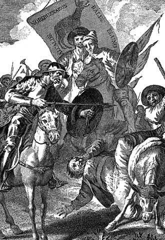 Dibujo de Goya en una edición de  El Quijote  de 1780.