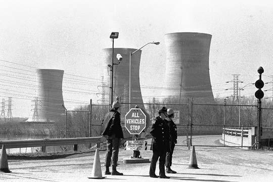 Central nuclear de Edison, en Three Mile Island (EE UU), después de su cierre por una fuga de radiación en 1979.