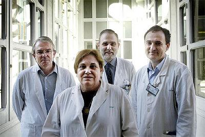 De izquierda a derecha, Josep Maria Gatell, Teresa Gallart, Josep Maria Miró y Felipe García.