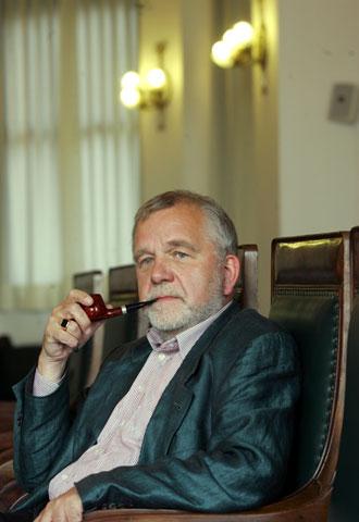 El filósofo alemán Rüdiger Safranski, ayer, en Madrid.