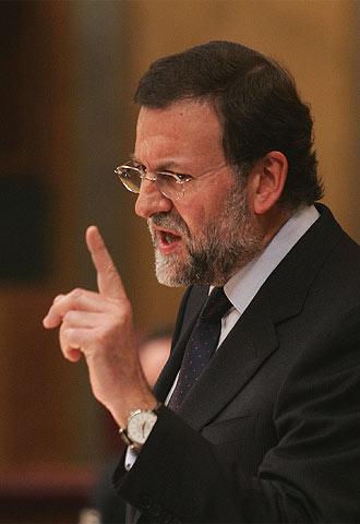 El líder del PP, Mariano Rajoy, en una de sus intervenciones.