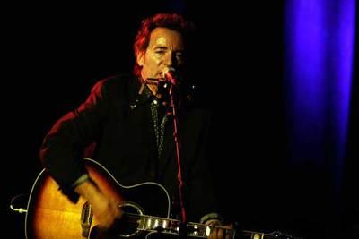 Bruce Springsteen, durante su actuación en Badalona el pasado día 1.