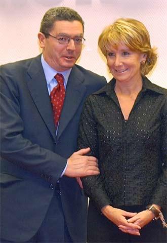 El alcalde de Madrid y la presidenta regional.