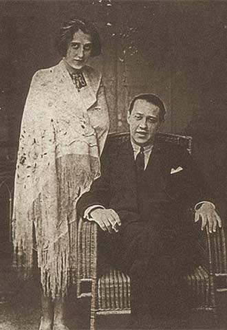 El escritor y su mujer, Lola Matzner, en 1923.