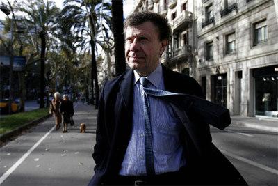 El historiador Roger Chartier, en Barcelona.