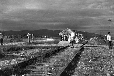 La estación de Palenque, en Chiapas (México), en 1956.