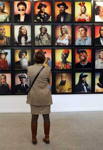 Des americains,  de Andrés Serrano, en la galería francesa Yvon Lambert.